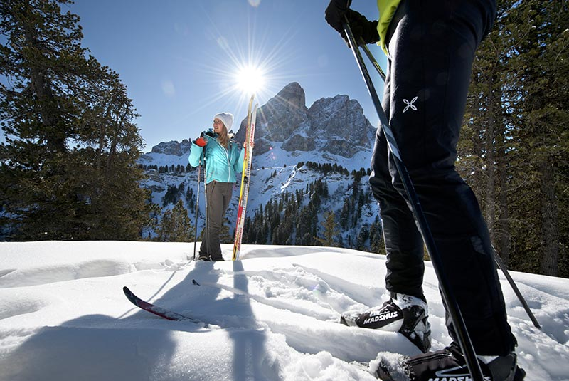 Cross-country skiing in Puster Valley